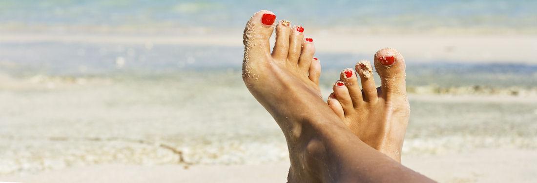 Pedicure and toe nails